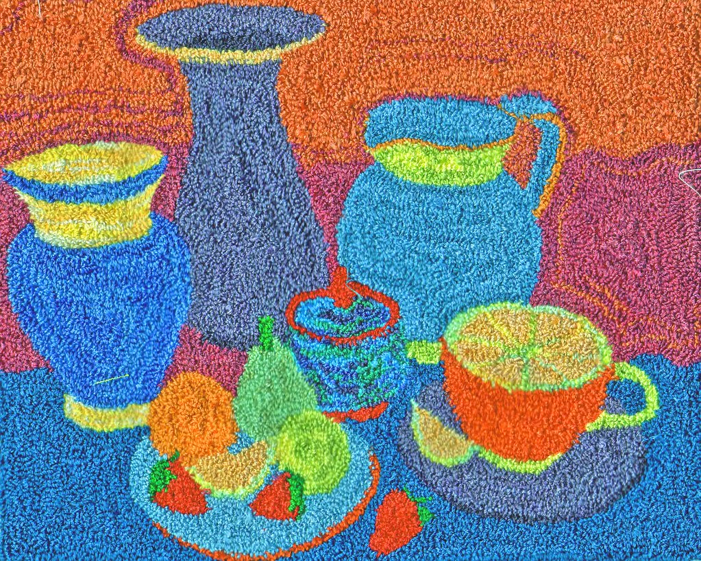 Still Life Punchneedle | I copied a still life pattern