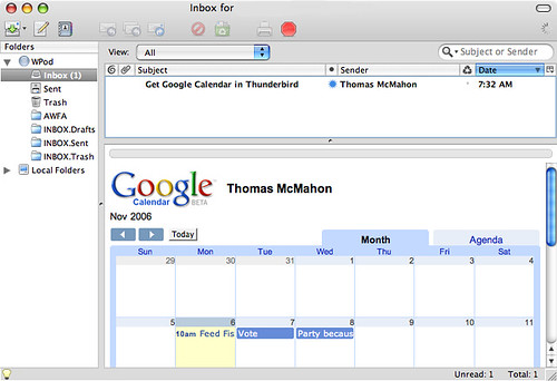 google calendar thunderbird integrate google calendar an flickr. Black Bedroom Furniture Sets. Home Design Ideas