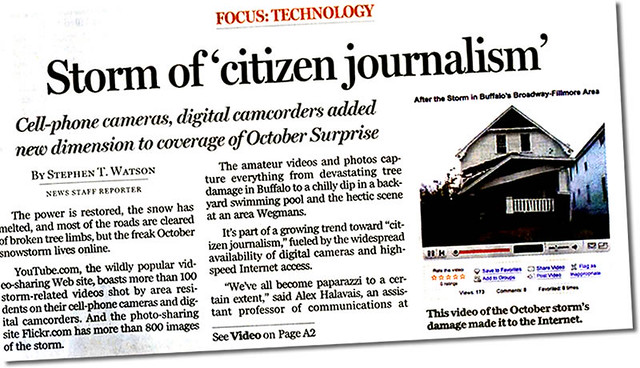 Quoted In Buffalo News On The Local Citizen Journalism Phe Flickr