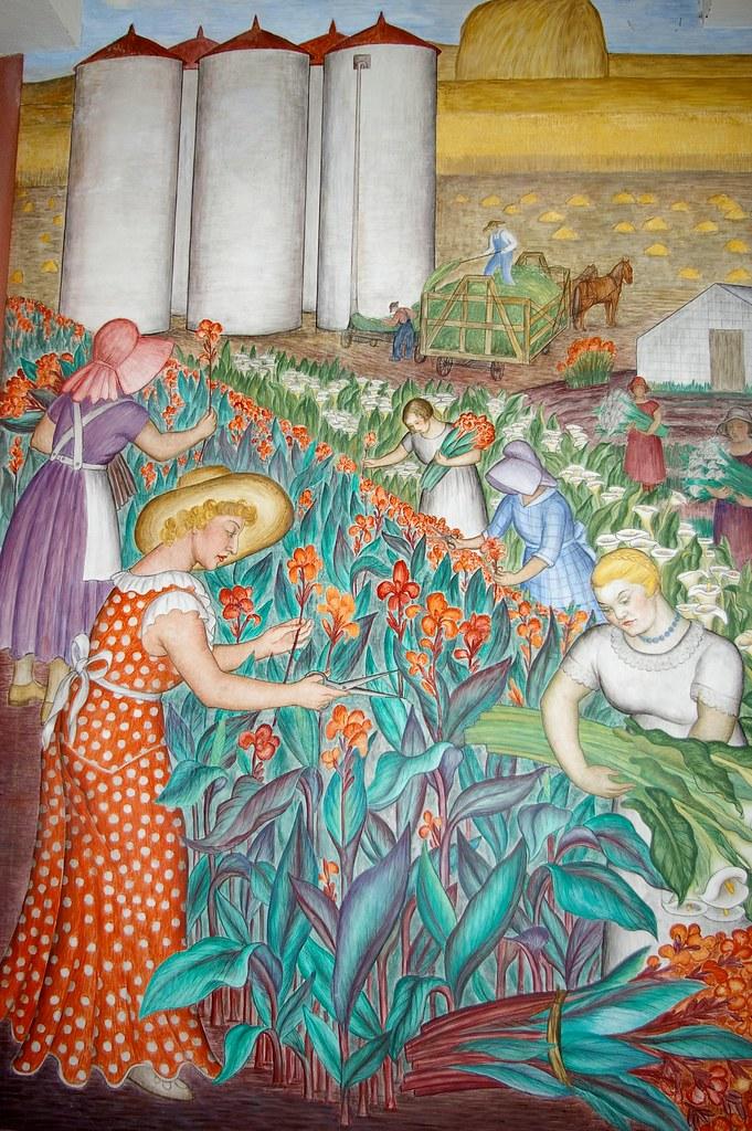 Coit tower murals flickr for Coit tower mural artists