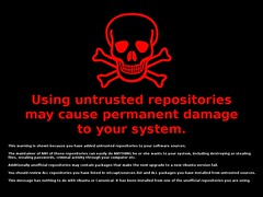 "Ubuntu Untrusted Repository ""gift"" 