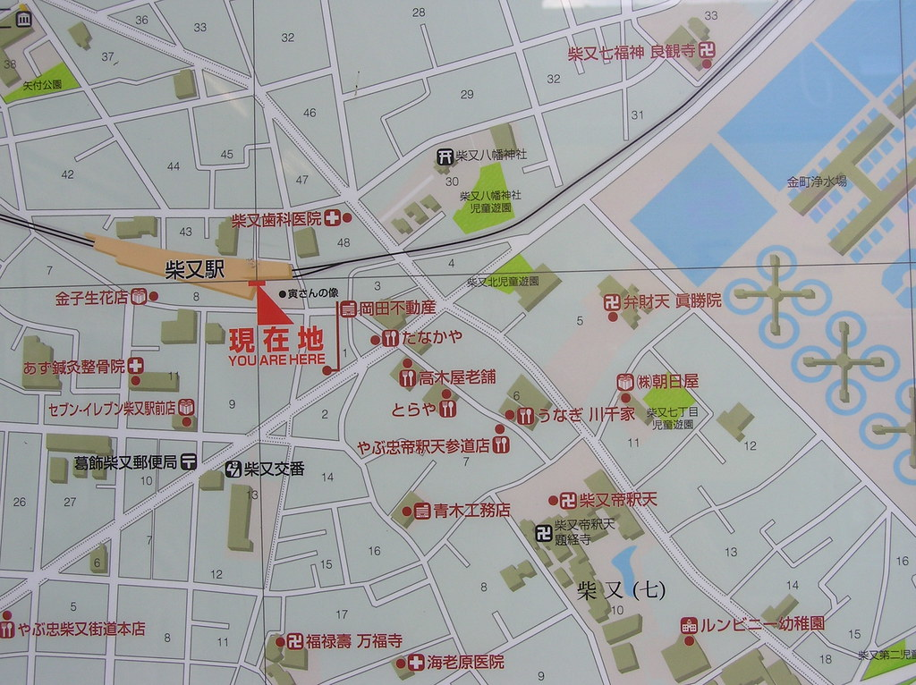 Area map near Shibamata Station in Toukyou You can usually Flickr