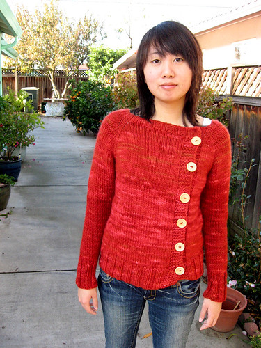 A sweater of not-so-many buttons | by honeypoo