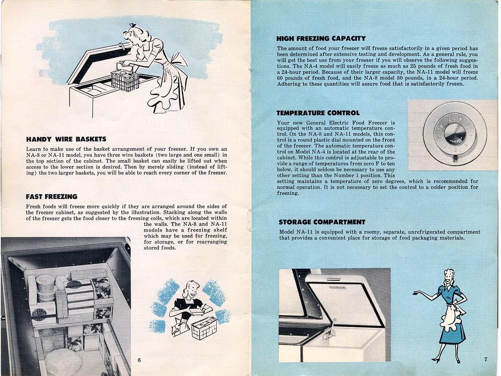 Vintage Ge Freezer Owners Manual Sheet 3 Side B Flickr