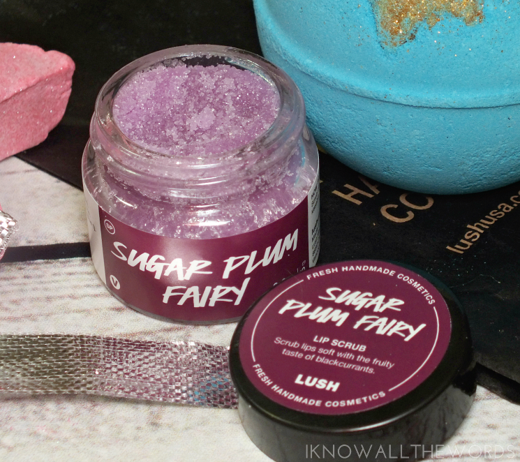 lush holiday 2016 sugar plum fairy lip scrub