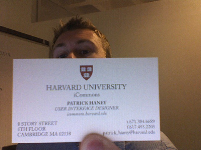 New Business Card A Photo Booth Snapshot Of My New Harvard Flickr