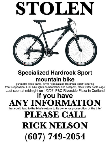 Stolen Bike Poster Help Out My Friend Rick Keep An