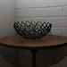 basket on table in dark corner