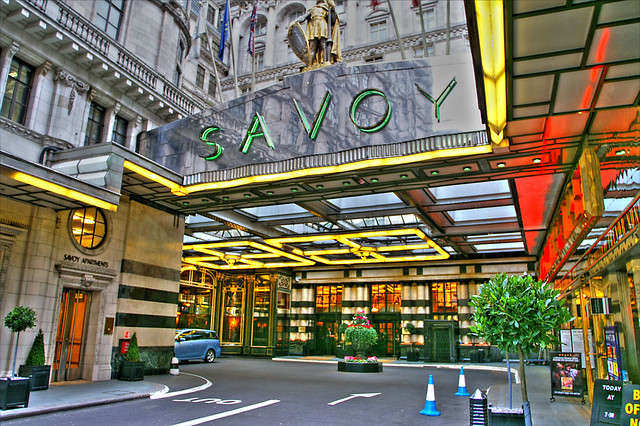 Savoy Hotel London Map