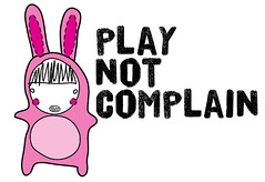 bunny play not complain | by Peras & Manzanas