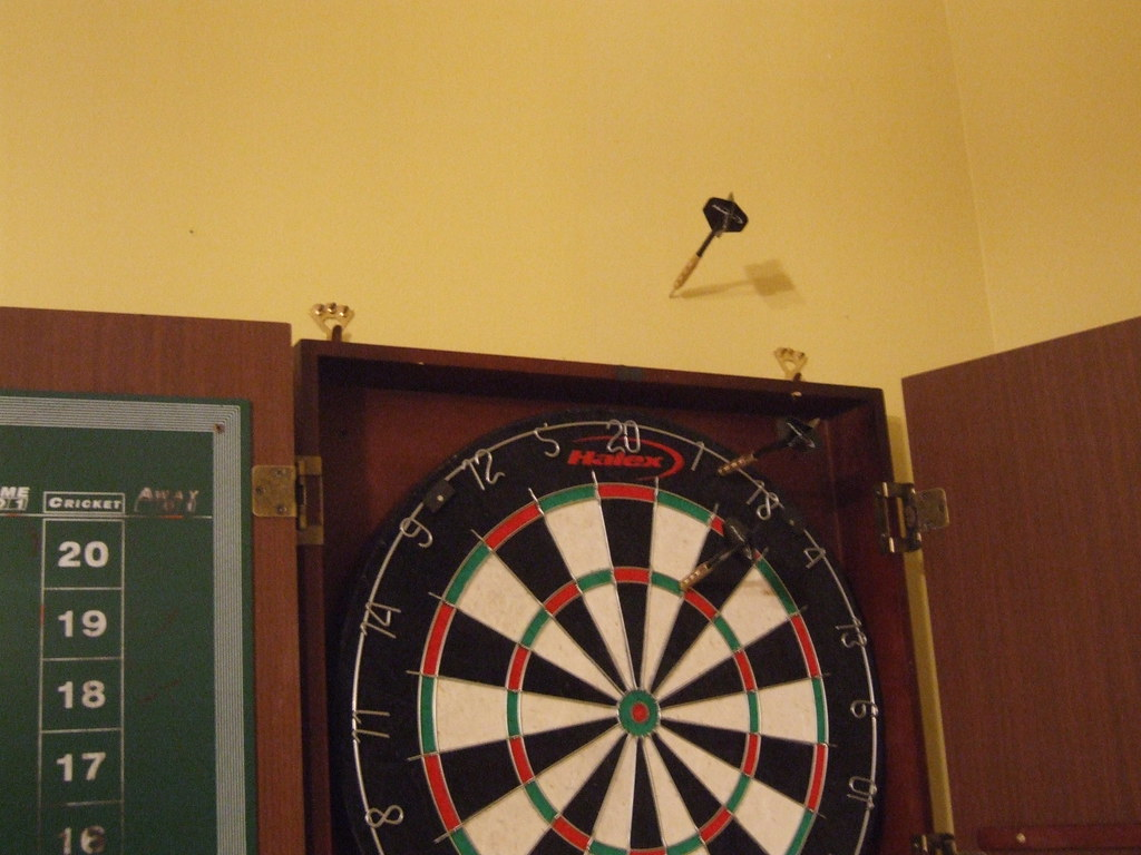 You Missed We Have A Dartboard Half The Darts Hit It Mike