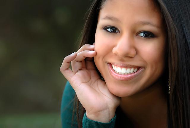 Alicia smiles