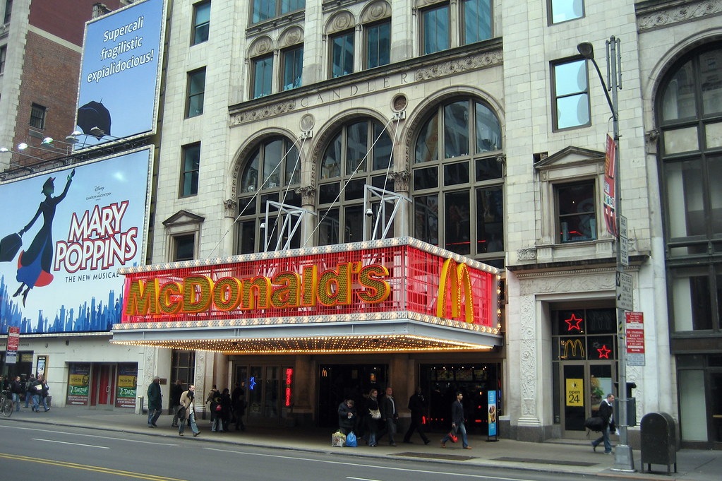 Nyc Times Square Candler Building Mcdonalds Built