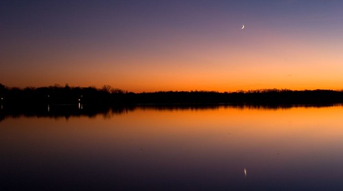 Sun and Moon Setting Over Cass Lake | by dawn_perry