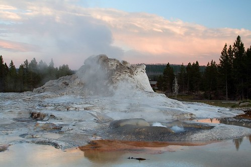 Castle Geyser at Sunset, Take Three | by Robby Edwards
