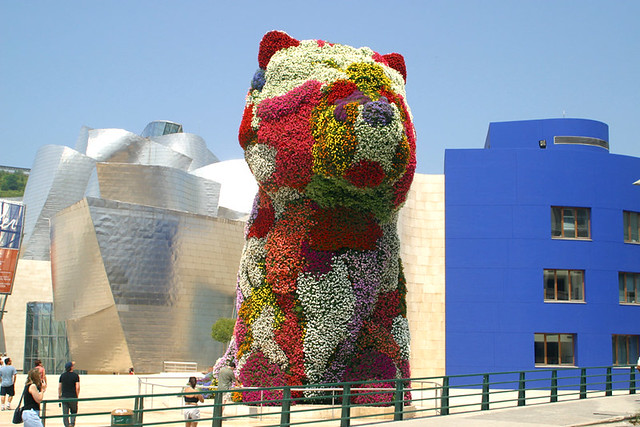 Image result for guggenheim bilbao dog