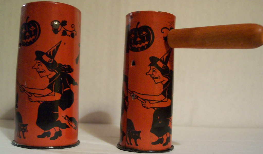 vintage halloween noisemakers 1 japan 1 germany same deco side 2 by riptheskull