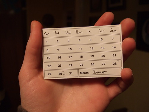 Calendar Card - January | by Joe Lanman