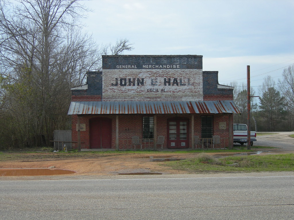 Old Cecil Alabama General Store Located In Eastern
