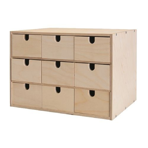 Ikea fira mini chest for cd drawer dvd wood holder rack - Cajones de madera ikea ...