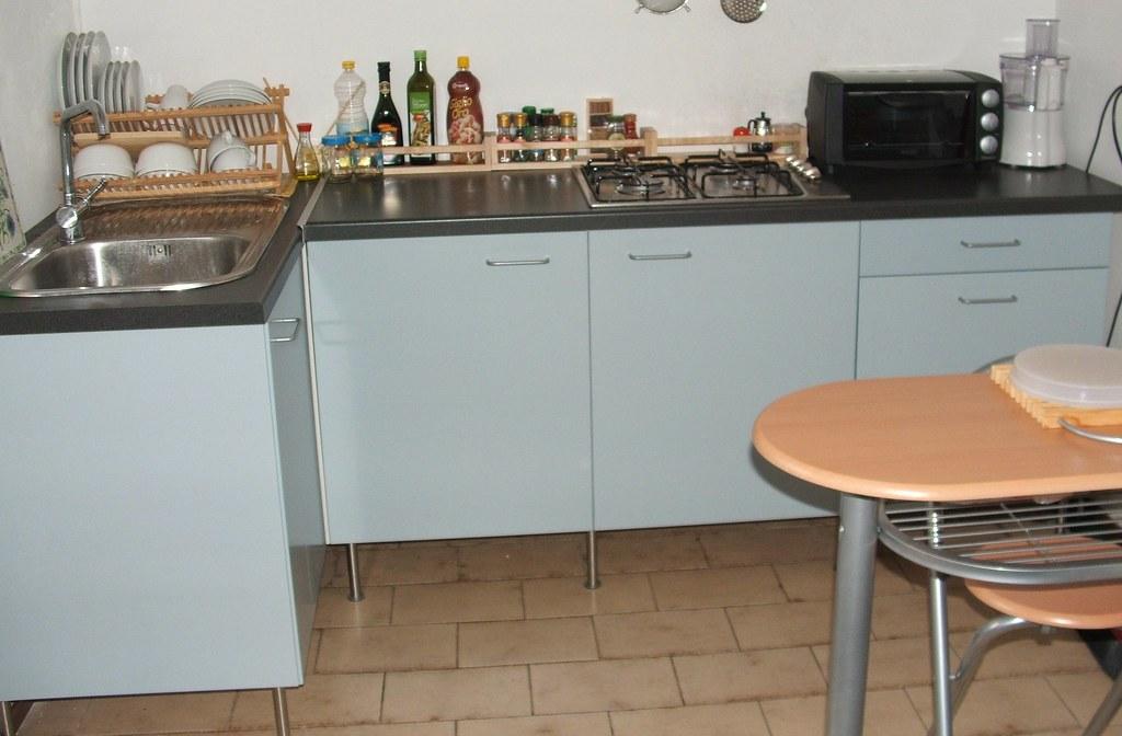cucina Ikea Applad | 3 moduli da 60 e uno angolare da 120cm,… | Flickr