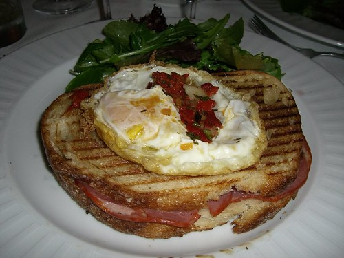 Cured Meat and Fried Egg grilled cheese sandwich | by Bunny Steph