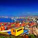 Valparaiso. Puerto from 21 de Mayo. Foto Antonio Ljubetic