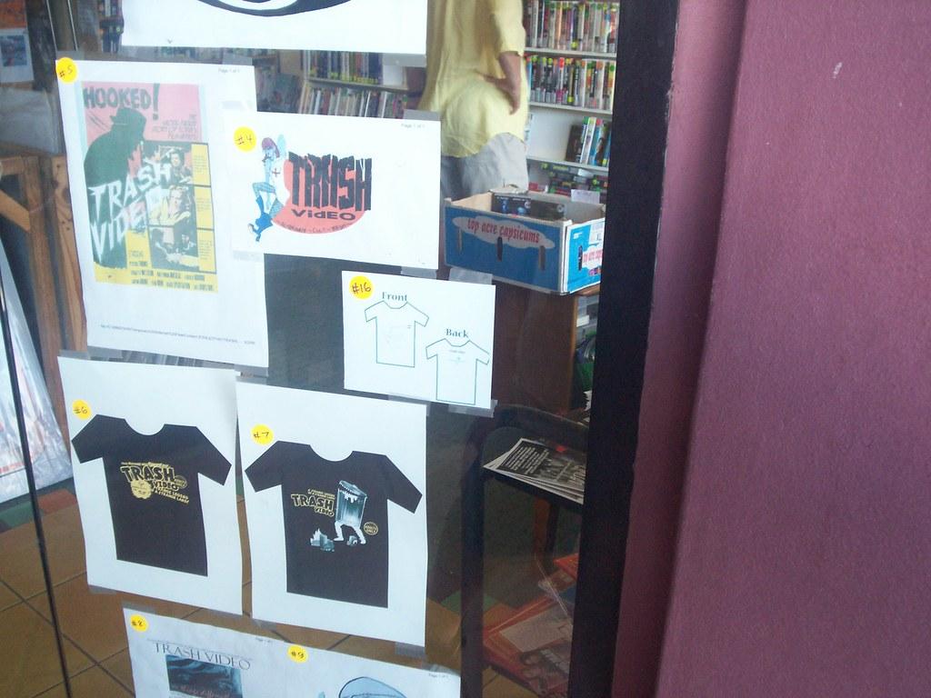 T shirt design qld -  T Shirt Design Competition Trash Video Vulture St 070106 West End