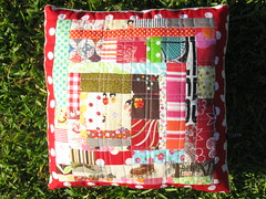 Quilted cushion # 2 | by Little Red Pear
