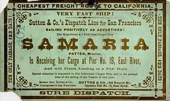 SAMARIA - Cheapest Freight Route to California.