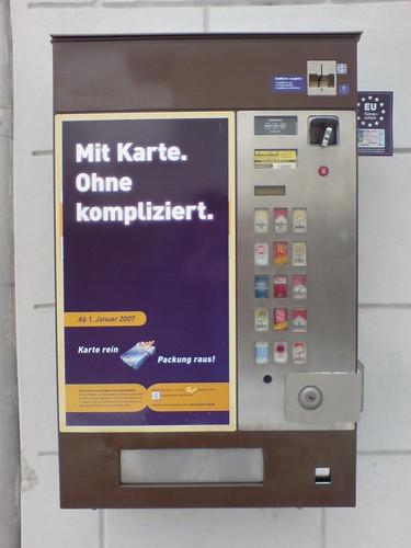karte zigarettenautomat