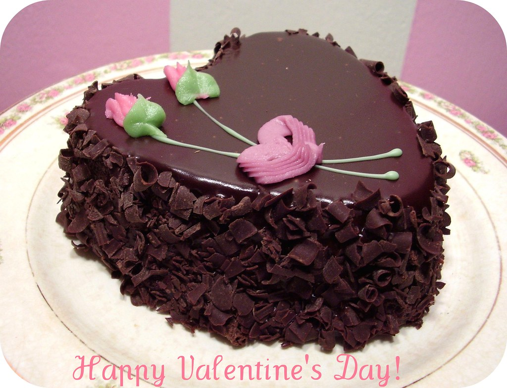 A Valentine S Day Chocolate Cake From Aaron Heart Cake Fo