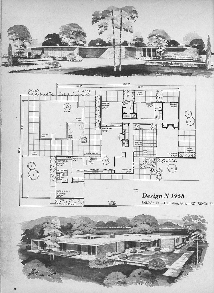 Charming ... Home Planners Design N1958 | By MidCentArc