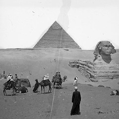 Giza, Egypt - Great Sphinx and Pyramid of Khafra | by Notre Dame Architecture Library