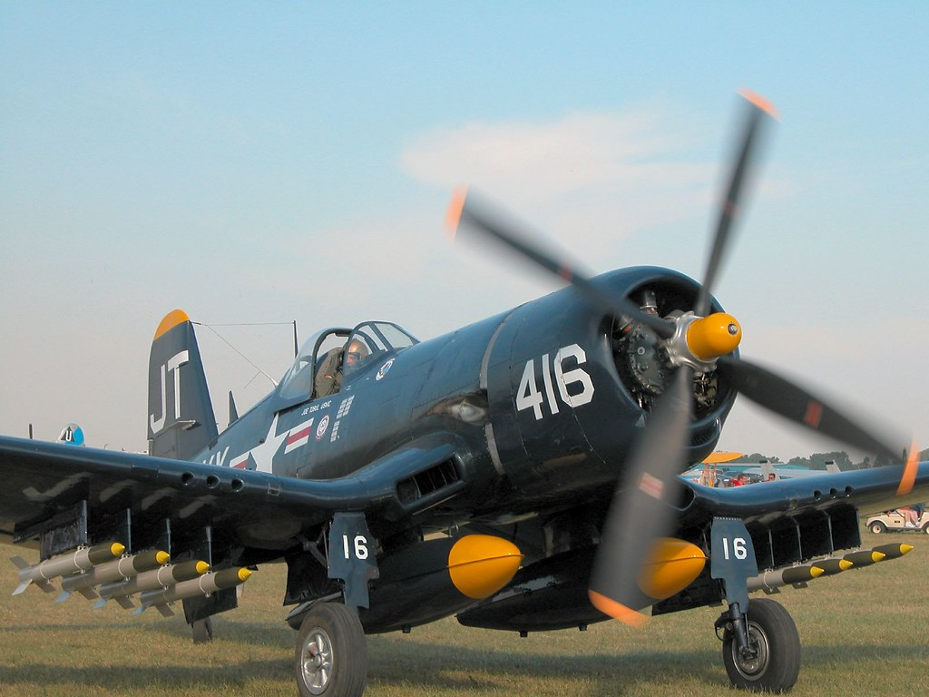 F4U-4 Corsair - This Corsair was lost along with its owner/p