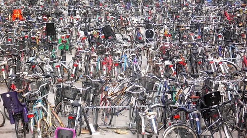 Sea of bicycles, Malmö Sweden