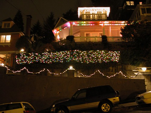 portland house with christmas lights | by Michelleration