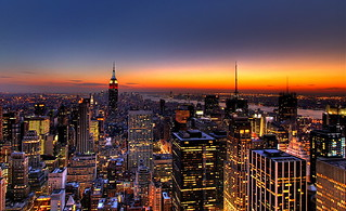 NYC New York City Skyline Sunset Wallpaper, Background | by Kaldoon
