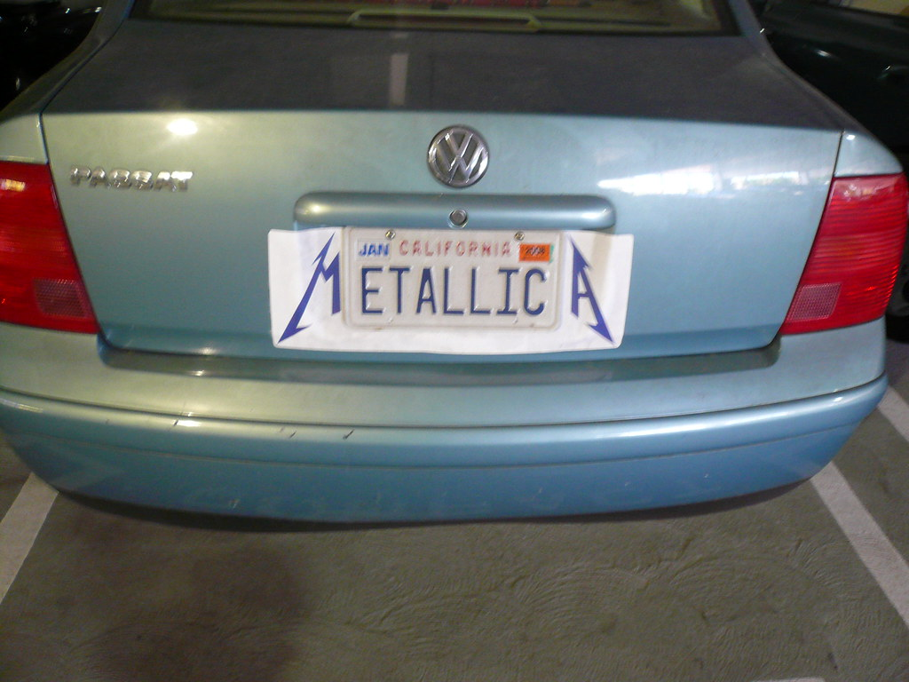 License Plate Camera >> BEST CUSTOM PLATE EVAR! mETALLICa, ICM parking lot, Los An… | Flickr