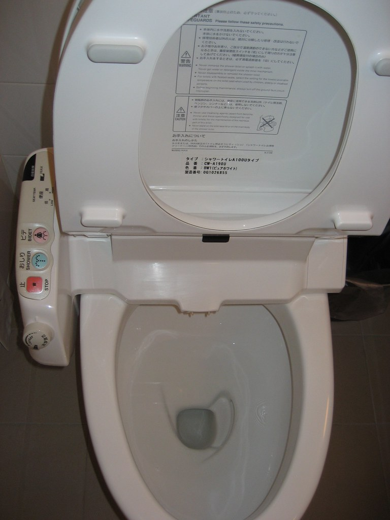 Fancy Toilet It Has A Shower Bidet Heated Seat And
