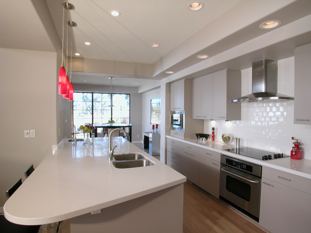Galley kitchen the basic design of this kitchen is the - Kitchen led lighting design guidelines ...