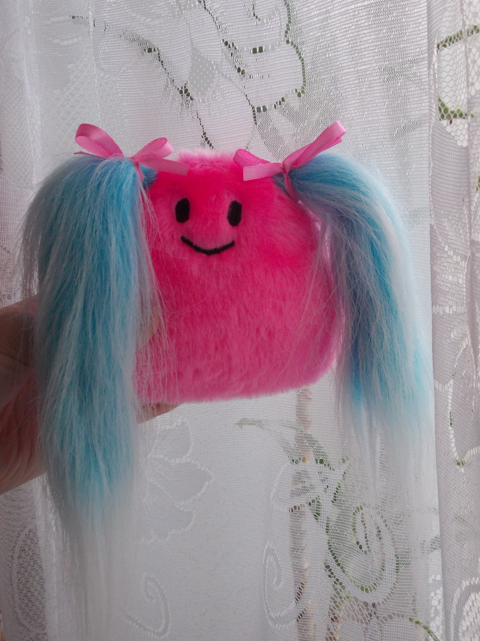 Cute toy, cute monster, kawaii monster, kawaii princess, pink blue toy, blue hair toy, blue hair princess, warm fuzzies 46