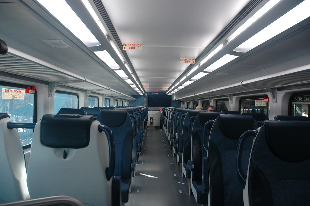 Interior Of A Nj Transit Multilevel Coach The New Nj