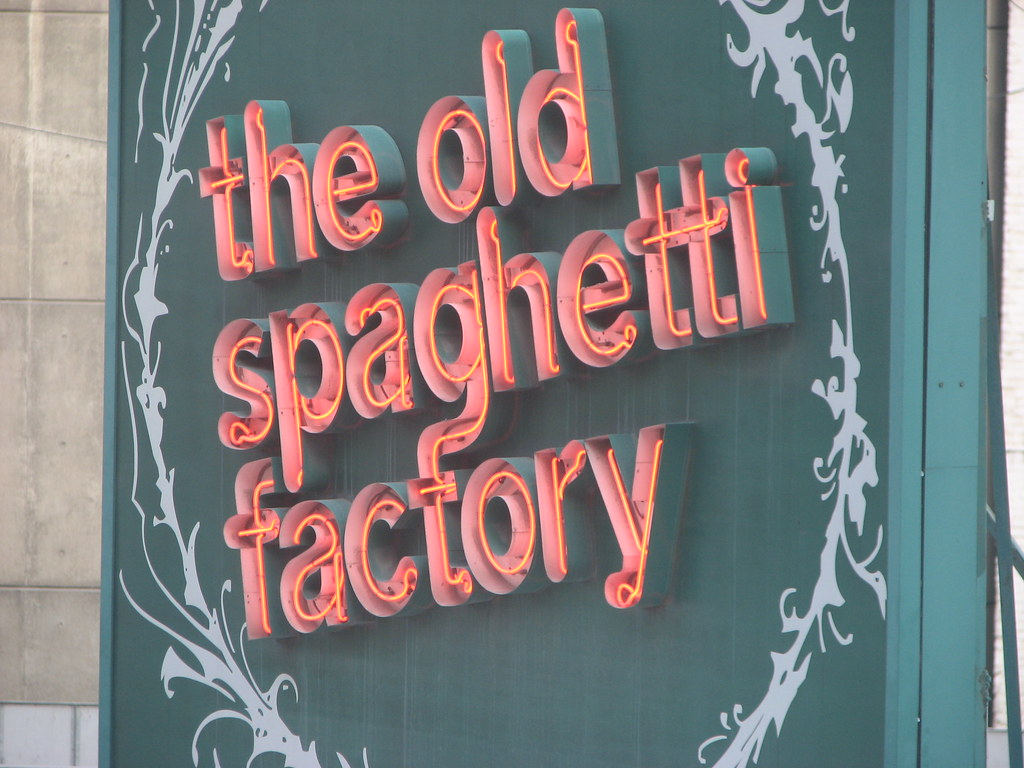 The Old Spaghetti Factory family restaurants offer a unique family friendly dining experience and delicious Italian food. We serve you a complete meal, which includes bread, soup or salad, and dessert. We have banquet rooms and catering available for your special events.