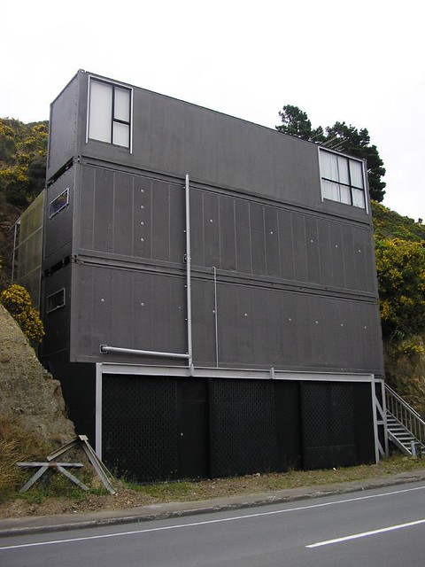 shipping container house a modern house made out of. Black Bedroom Furniture Sets. Home Design Ideas