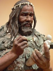 Sculpture of Cro-Magnon Man whose skeleton was found in 1868 at Les Eyzies France | by mharrsch