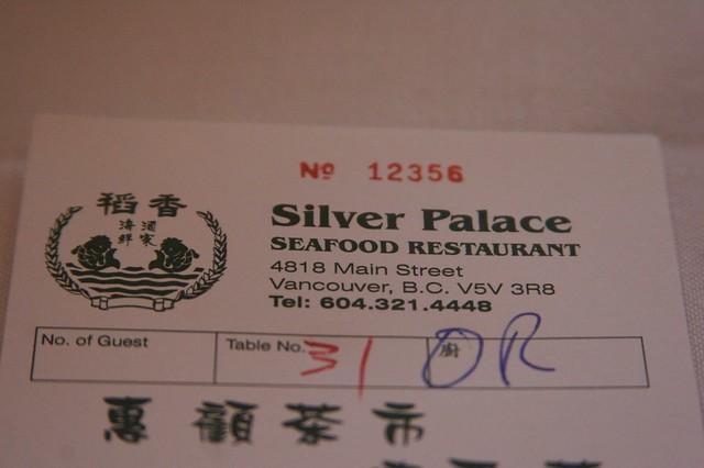 Silver Palace Chinese Restaurant Menu St Marys