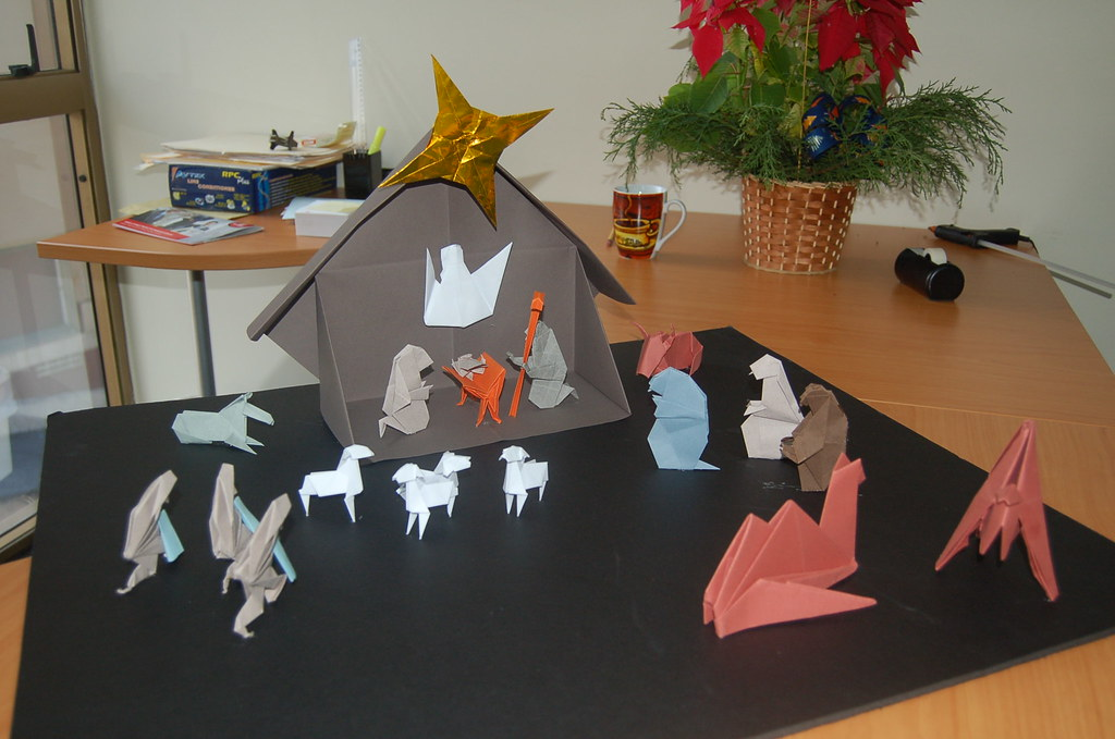 Origami Nativity Scene  By Klaus Dieter