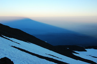 Shadow of Mt. Adams at sunset during descent - over Yakima County - 2006 | by lkn4snow photography