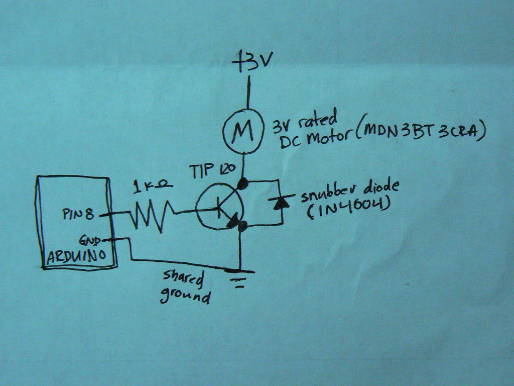 Arduino controlling a DC Motor: circuit diagram | See the ci… | Flickr